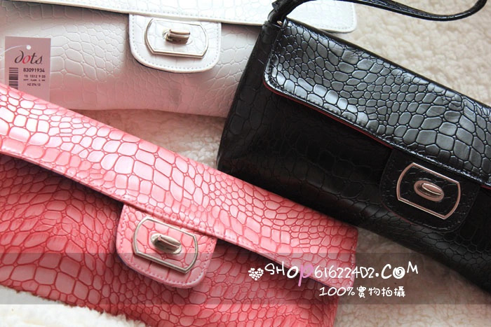Детали и Аксессуары для сумок Hearts . hearts . small fresh concave-convex alligator long design big handle bag portable belt evening bag female
