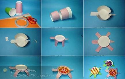创意手工:纸杯变动物