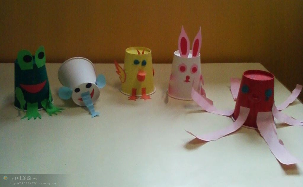 幼儿园创意手工:纸杯动物
