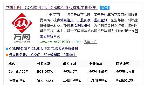 万网——最大的域名交易平台