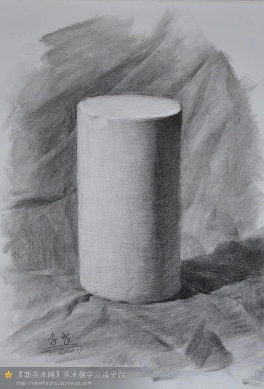 圆柱体手绘简单图数学