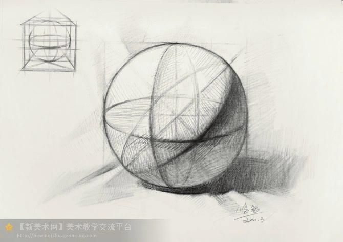 [转载]教学对话-素描几何体专题_吴远画室_新浪; 素描几何体结构解析