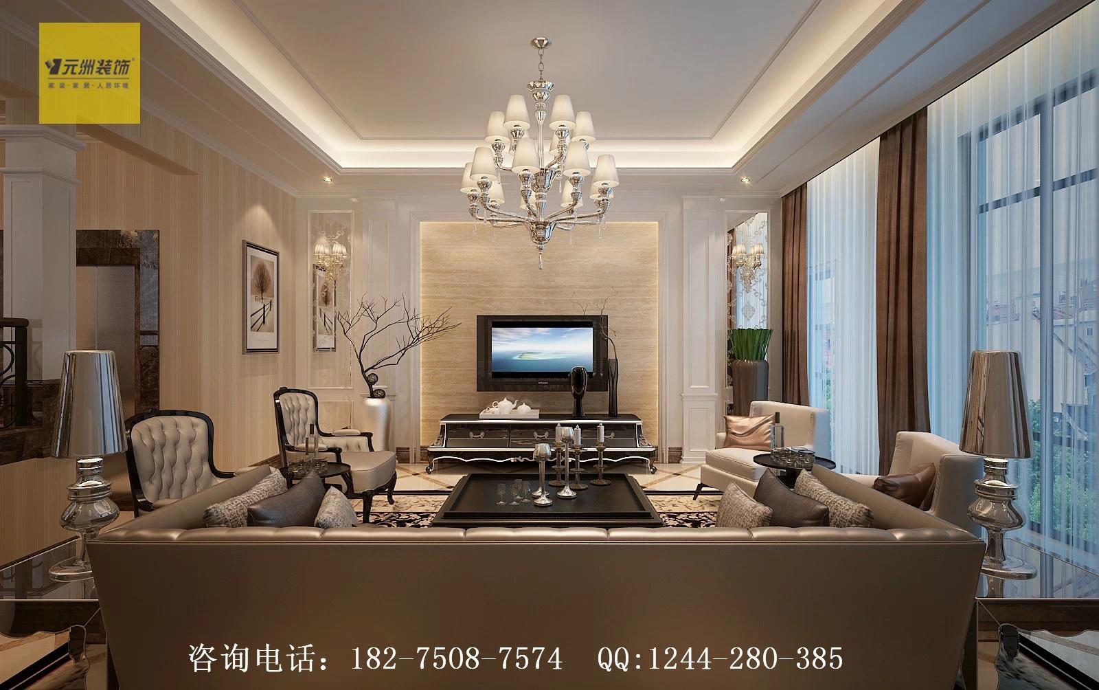 平米别墅装修案例--欧式风格--设计总监赵强原创作品