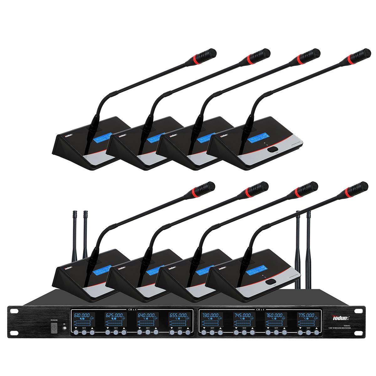 托顿TD860U 无线鹅颈话筒 U段 一拖八无线会议系统