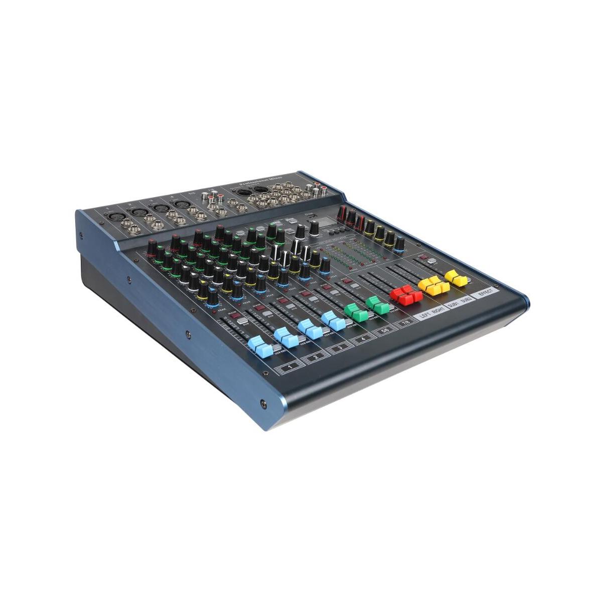 8路专业调音台 TDK8/2 音视频、灯光、家庭影院 报告厅、现代电声乐队演奏调音台