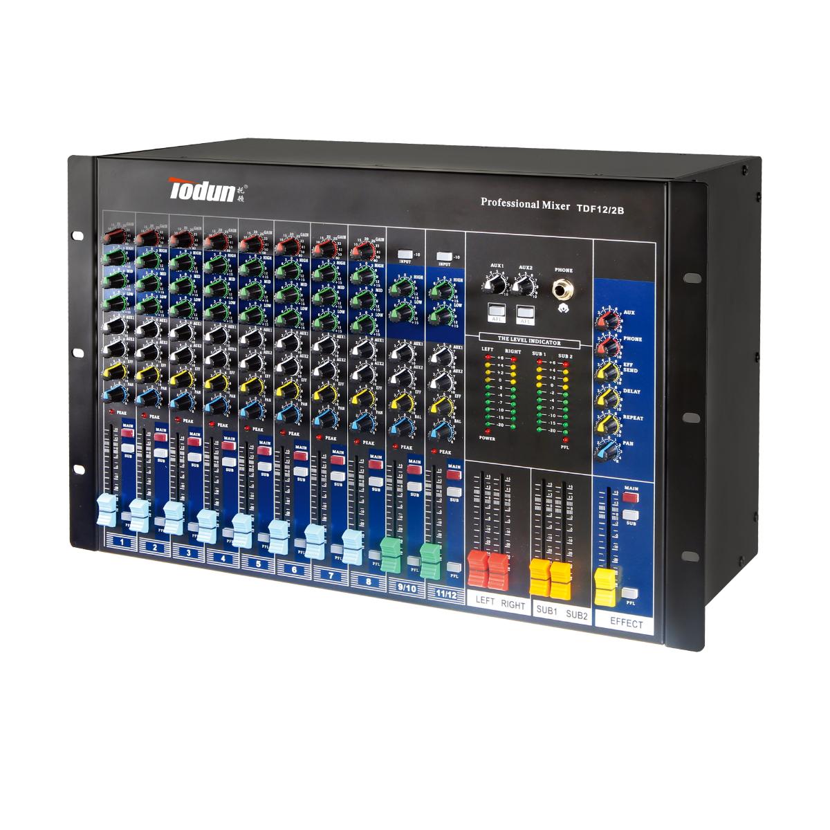 托顿TDF12/ 2B 扩声音响周边设备 12路机柜式调音台