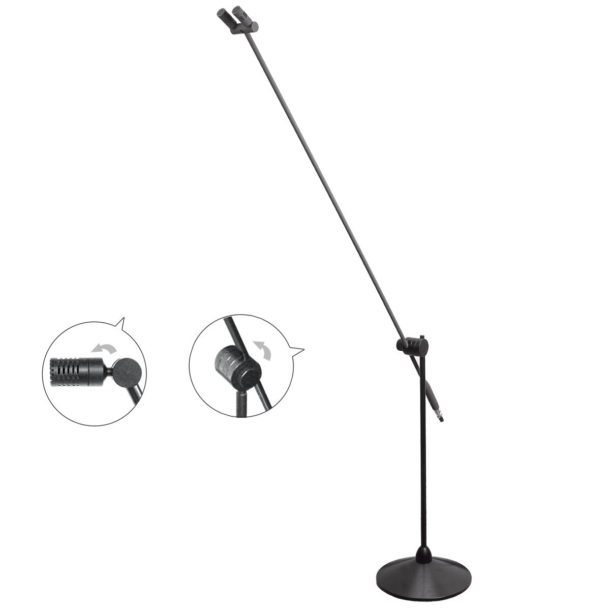 演讲麦克风 TD79L 双咪头 可调1.65米高度 演出麦克风立地合唱专业话筒