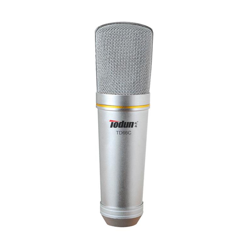 直播录音话筒 托顿TD66C 录音麦克风(大震膜,双面)