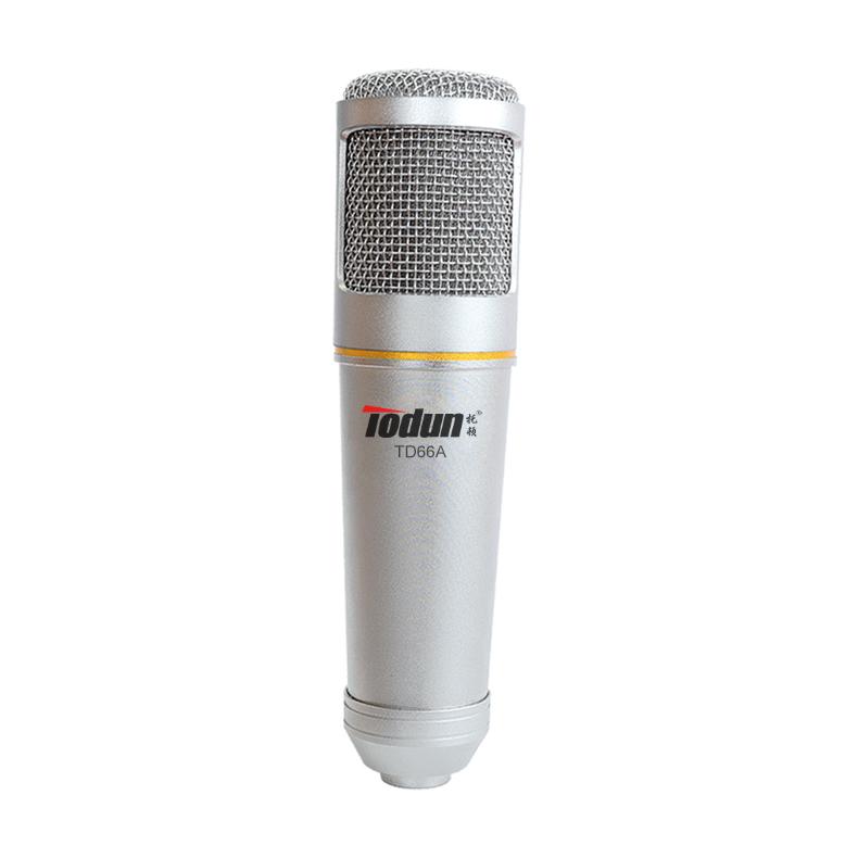 录音麦克风 TD66A全民K歌利器电容录音话筒厂家批发聊天广播主播麦克风