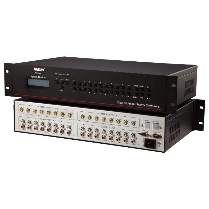 托顿AV0808-A 智能中控系统 8进8出VGA矩阵(带音频)