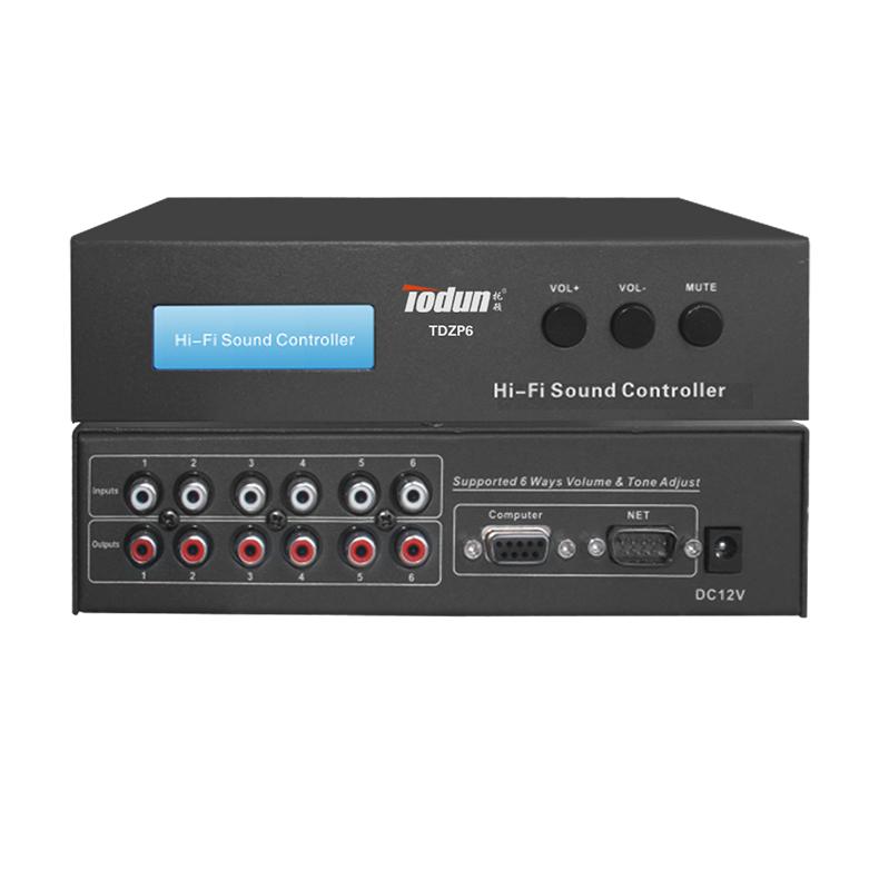 托顿TDZP6 智能中控系统 6路音量控制器