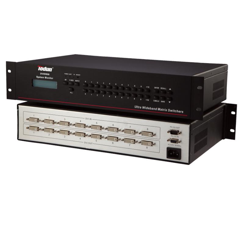 托顿DVI0808 智能中控系统 8进8出DVI矩阵