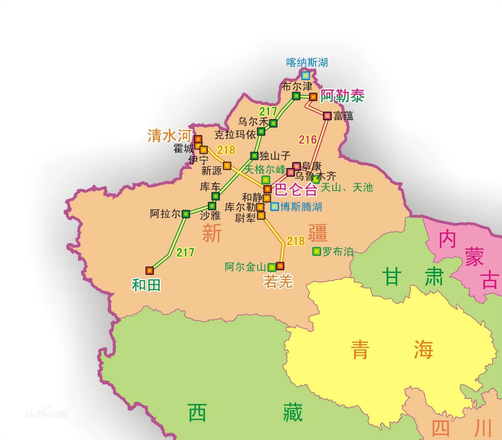 禾木村手绘地图