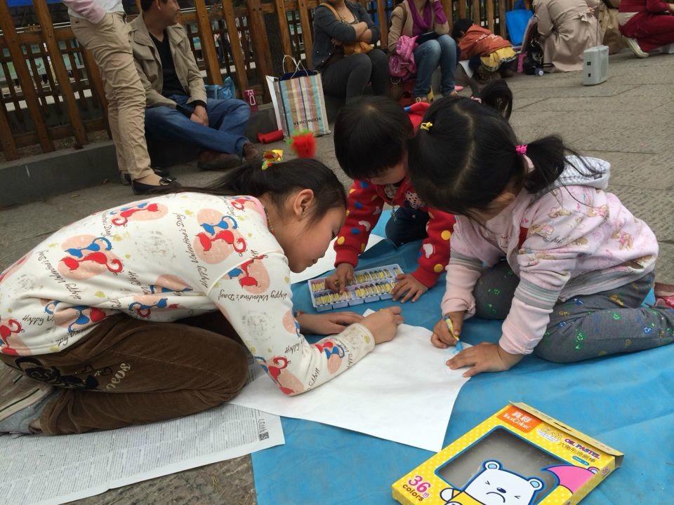杨柳树画画图片