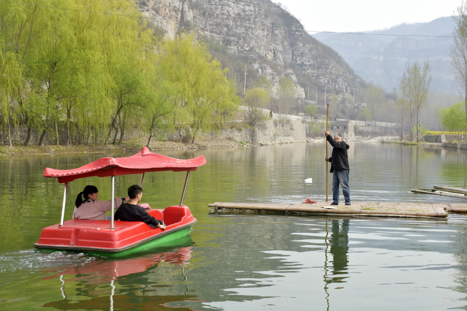 三渡湾风景区聆听春风,阅读绿水,寻找城市喧嚣之外的
