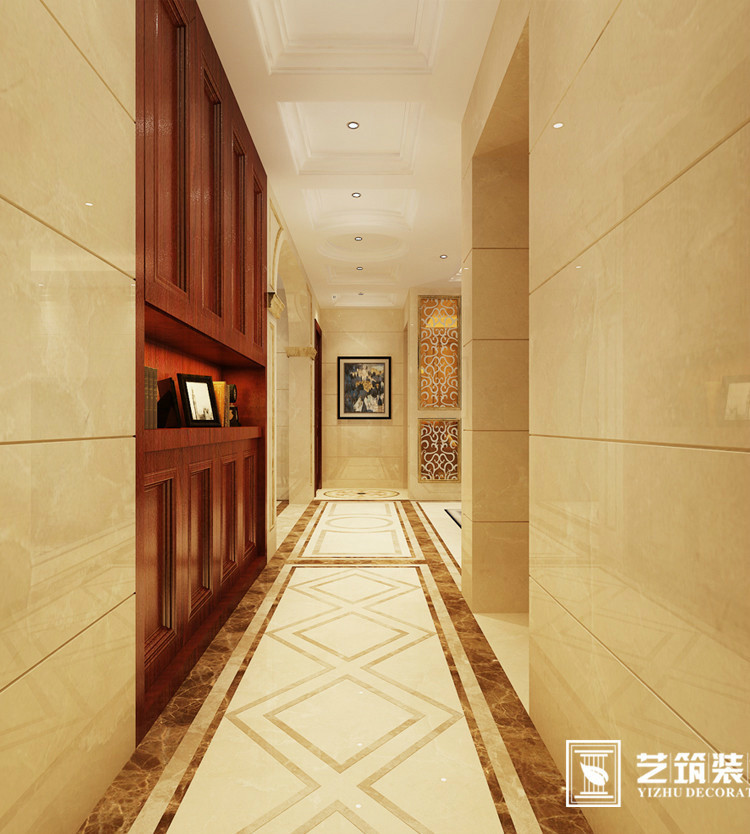 欧式风格 三居室装修 装修设计案例:过道