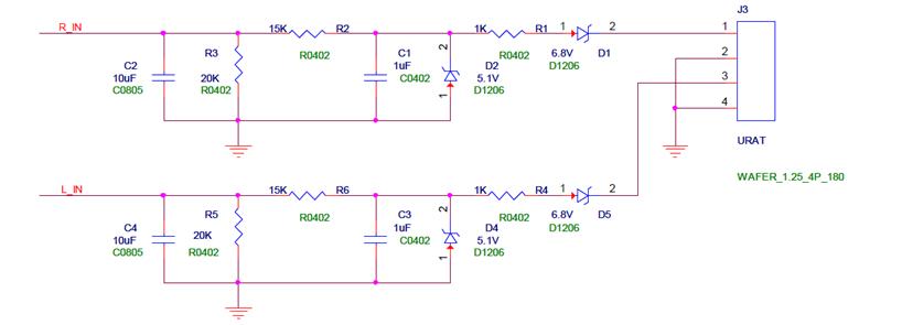 图1控制盒主芯片电路图 还是用的stm32051