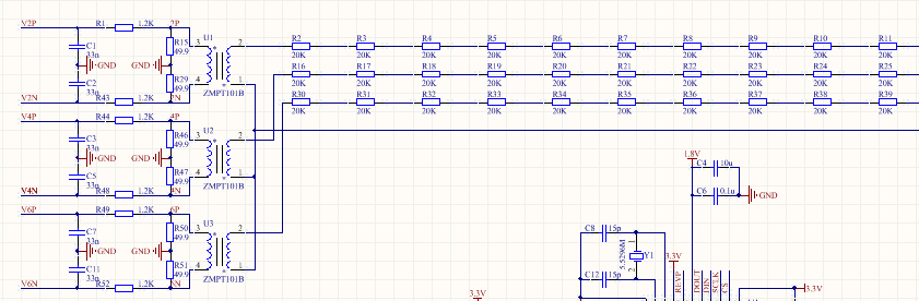 电子线路设计技巧3:att7022e电压采样电路