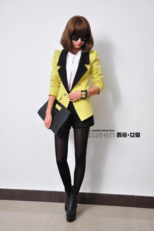 是T+牛仔裤、哈伦裤.都是搭配西装的必需品.-2012秋装新款女装