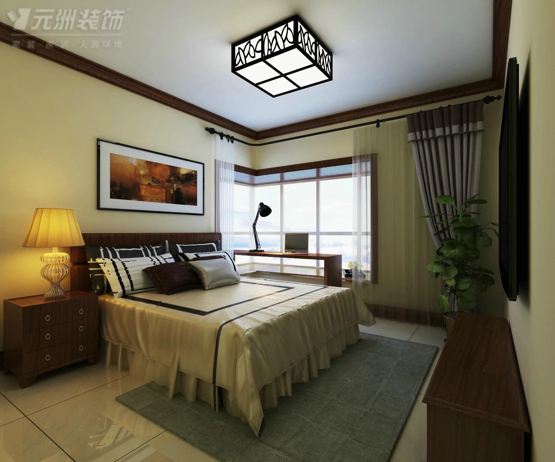 卧室中简单木线条装饰