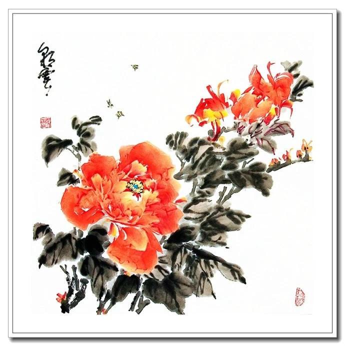 仪态万方 王应敬小写意牡丹画【国画欣赏】