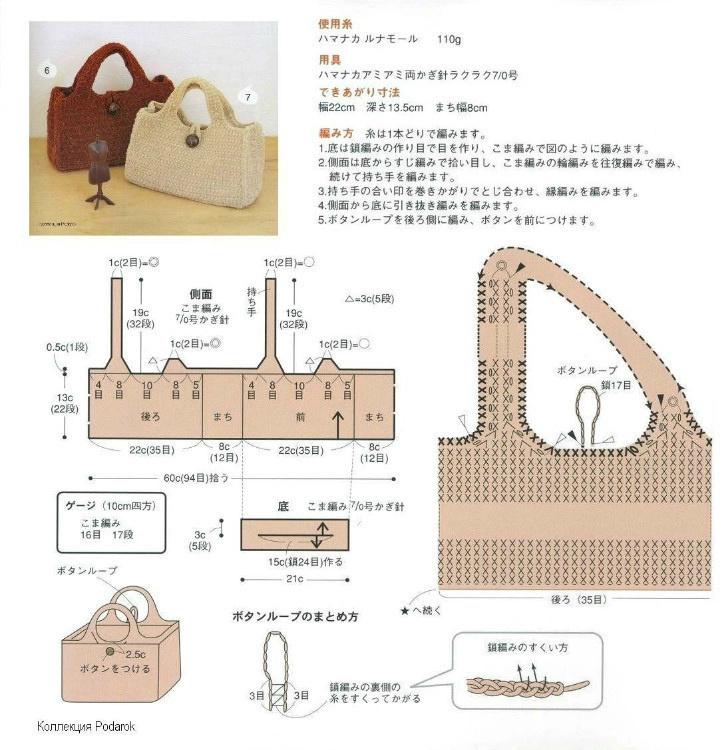 钩针编织各种手提包(上)