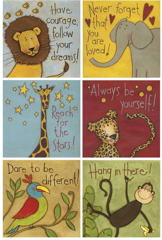 【常促网】卡通儿童房挂画无框画多联可选可爱动物样