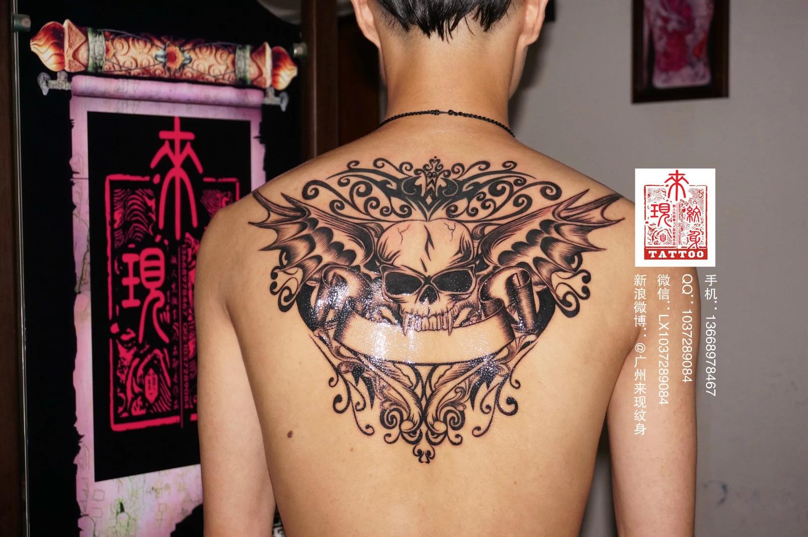 背后修改旧纹身操作过程!