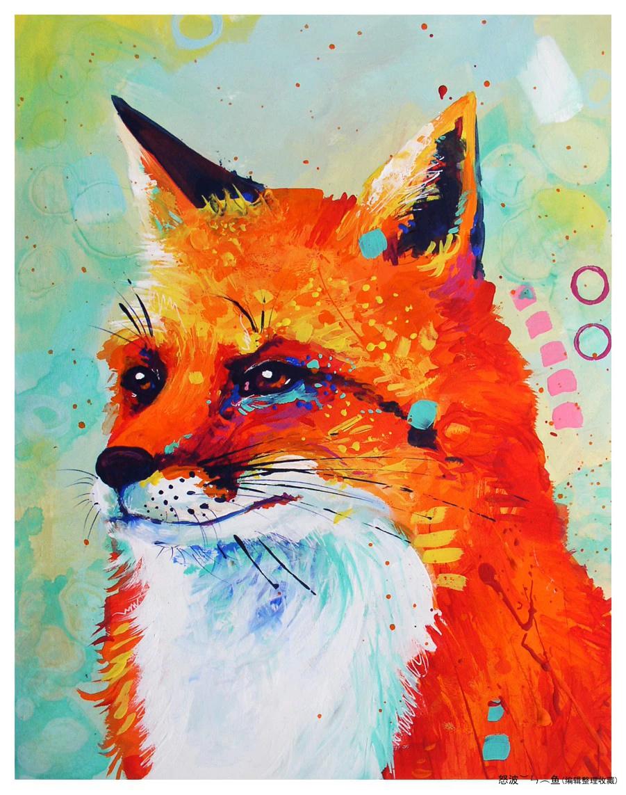 桑德拉trubin炫彩动物绘画