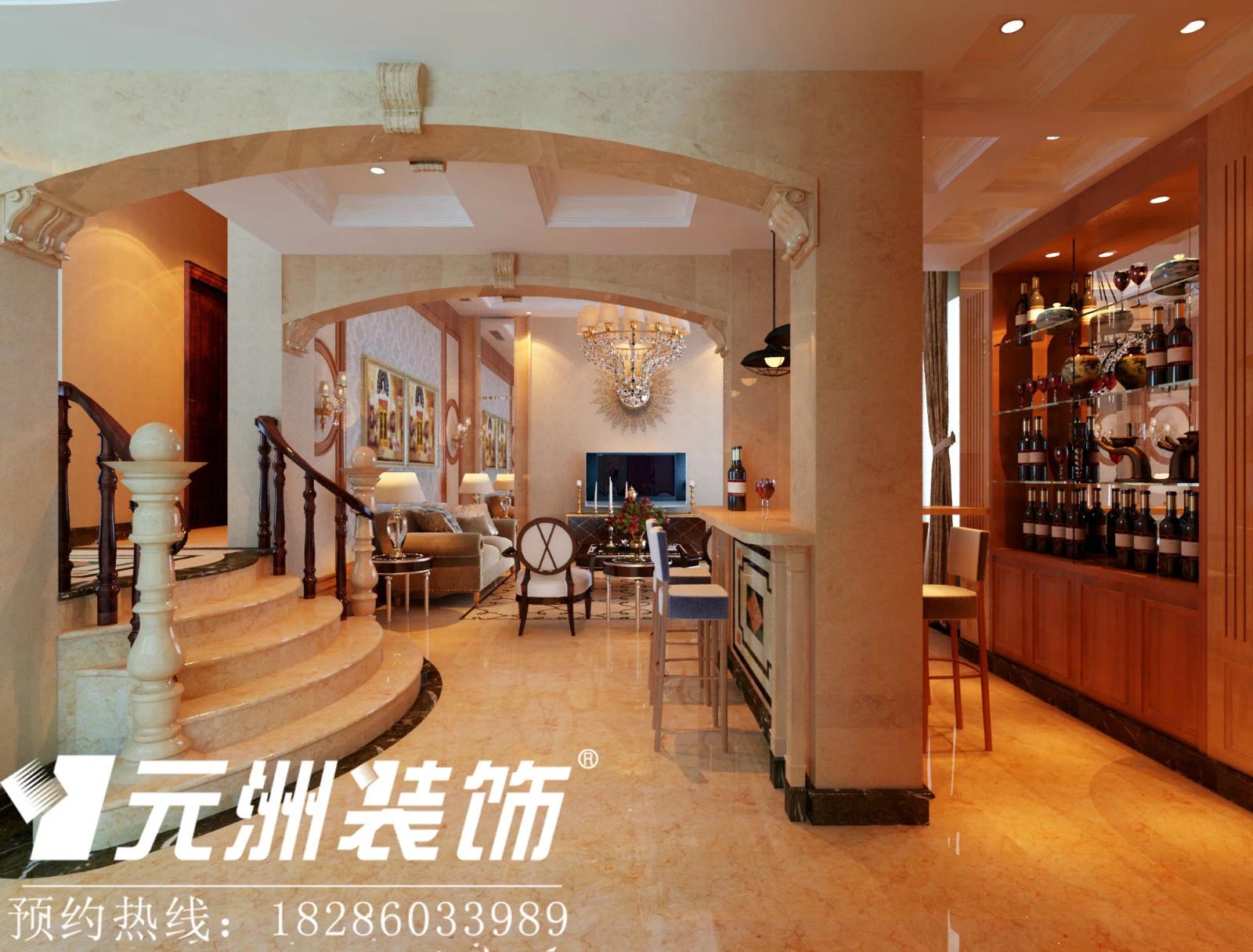 贵阳金华世家586平米独栋别墅欧式风格装修设计案例