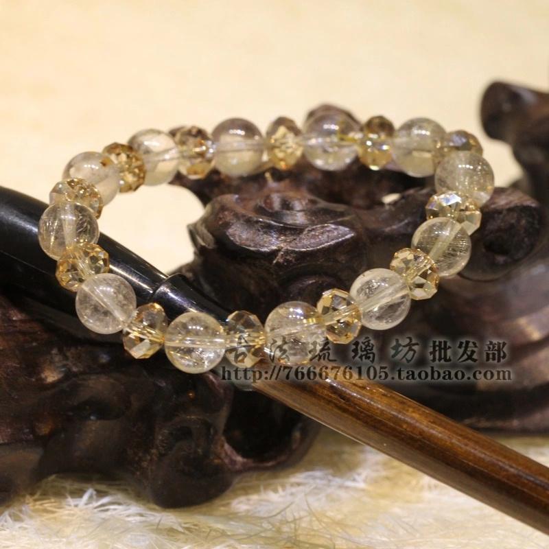 粉水晶 手链 黄水晶
