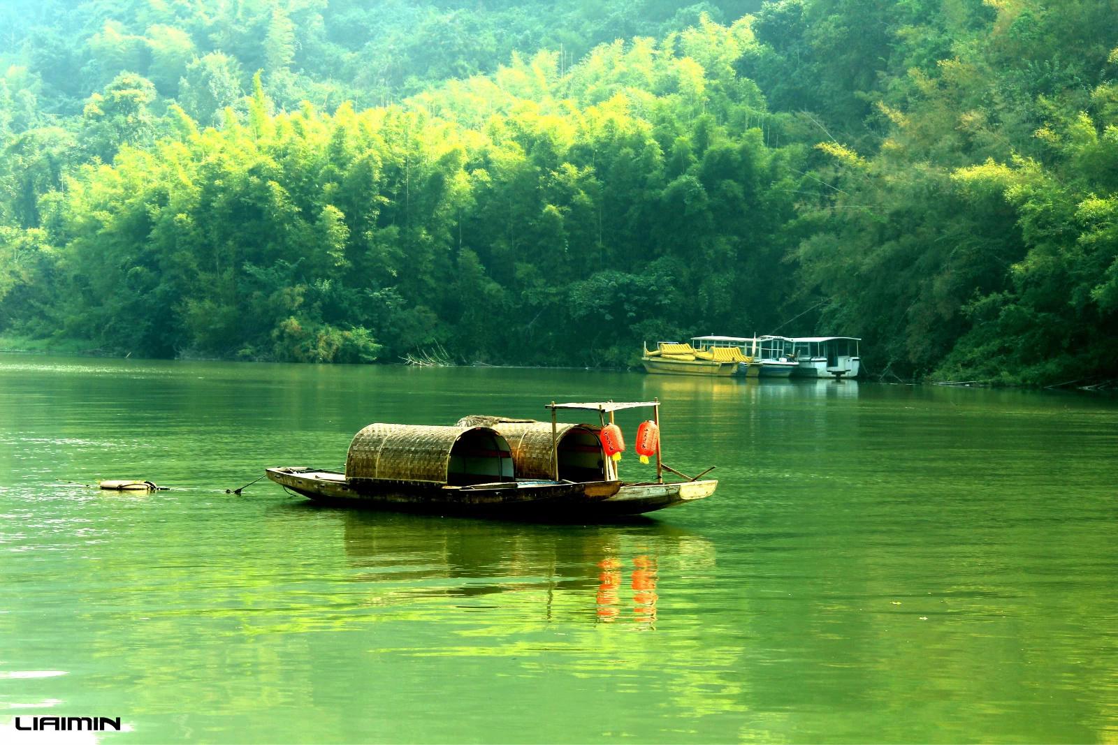 舟晚上风景图片