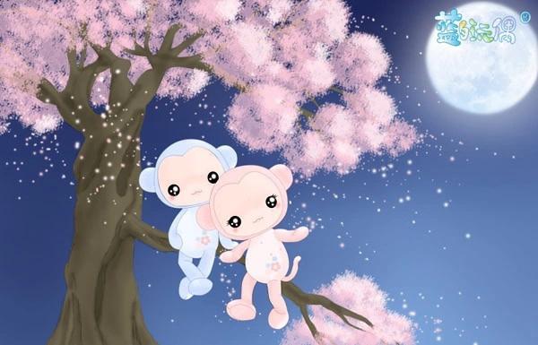 可爱卡通小猴子情侣毛绒玩具公仔抱枕娃娃