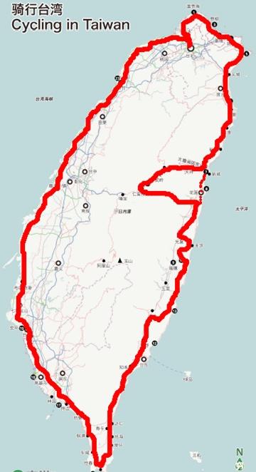"""也可以买张台湾地图;翻越""""武岭""""记的带"""