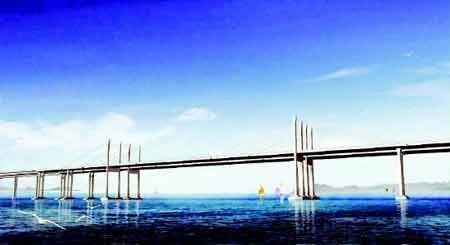 示全国各地跨海大桥