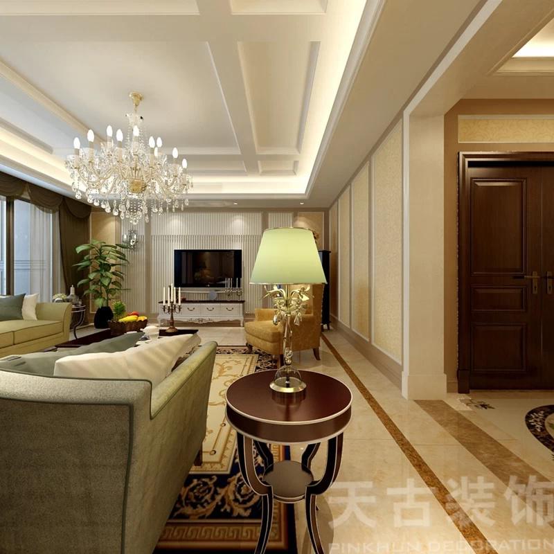 本案设计师:导师设计师俆顺兵 主要主材:鹰牌瓷砖、马可波罗瓷砖、伟奇石材、顶固衣柜、川王木门、艺源墙纸、品生地板、爱格斯曼橱柜、华美嘉洁具  本案就是以现代欧式风格为主,与古典主义不同,现代欧式风格的装修更注重庄严肃穆、优雅气质,能够将欧式风格的繁复与复古风格的奢华完美沟通。  风格设计一般是从简单到繁杂、从整体到局部,精雕细琢,镶花刻金都给人一丝不苟的印象,一方面保留了材质、色彩的大致风格,让人感受到传统的历史痕迹与浑厚的文化底蕴,同时又摒弃了过于复杂的肌理和装饰,简化了线条