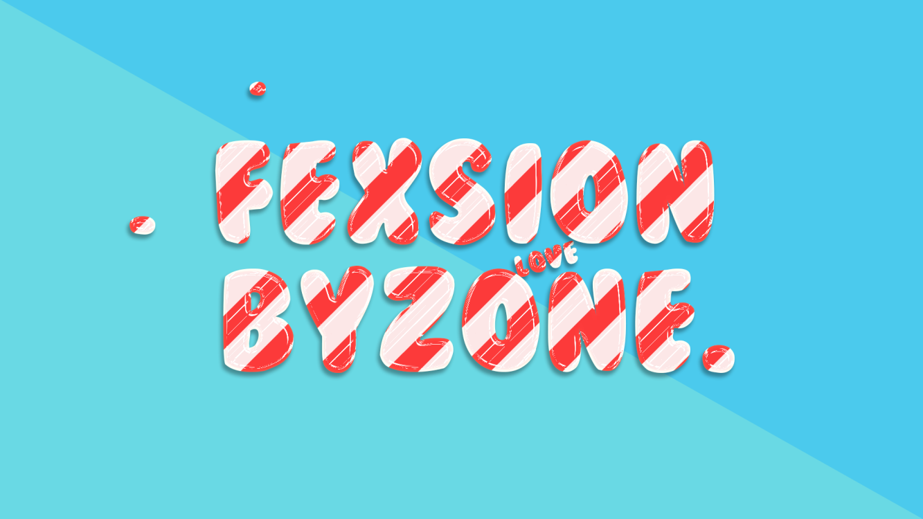 糖果字,设计可爱的糖果文字效果