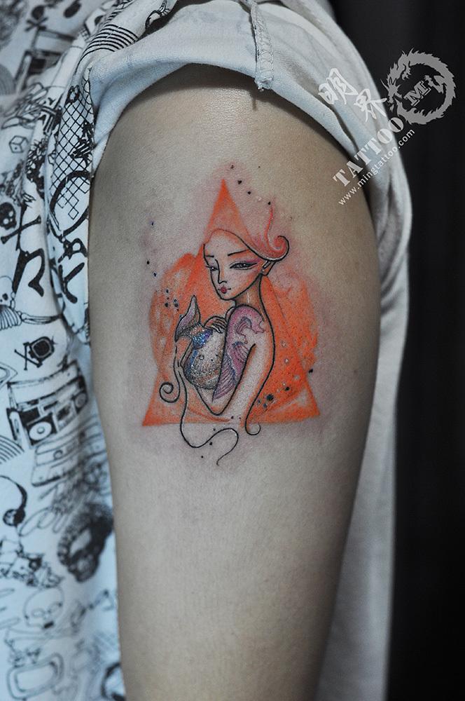 很多人说纹身再结痂脱皮时图片