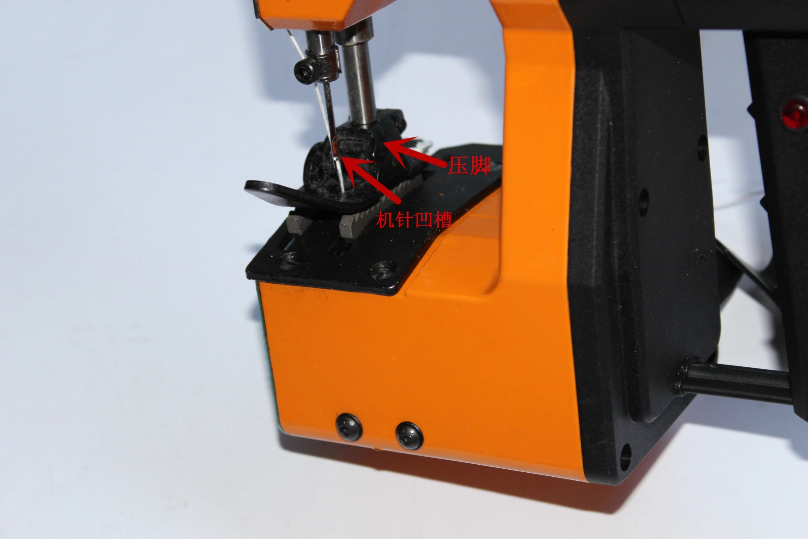 松固定机针的内六角螺丝 安装时, 如果安装不正确,可能出现的故障