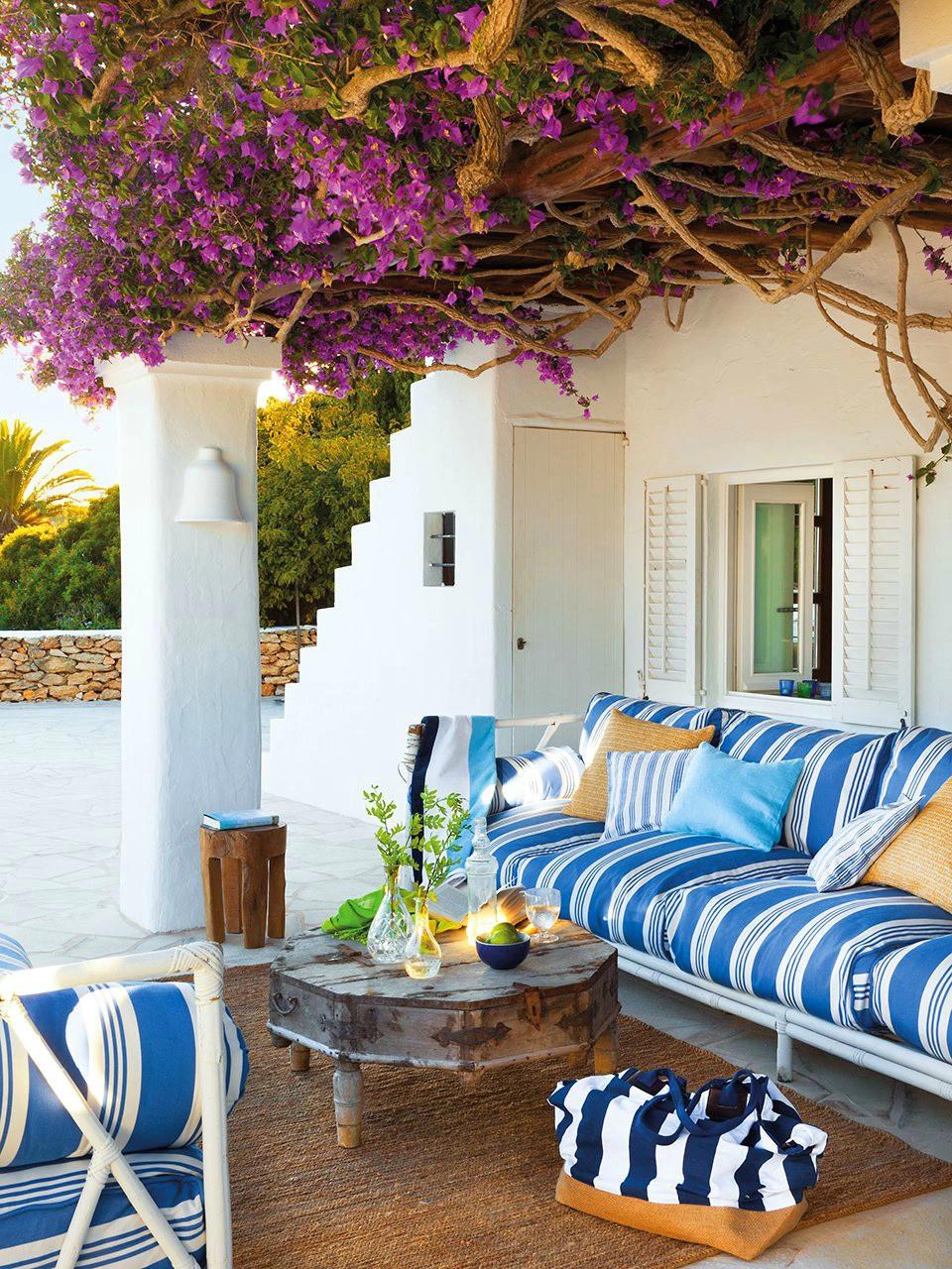 ibiza岛海滩地中海风格的房子