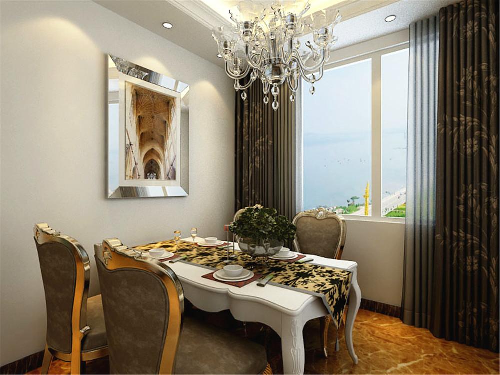 欧式风格白色家具配地砖效果图
