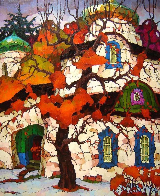 【童话意境】俄罗斯瓦列里·维谢洛夫风景油画
