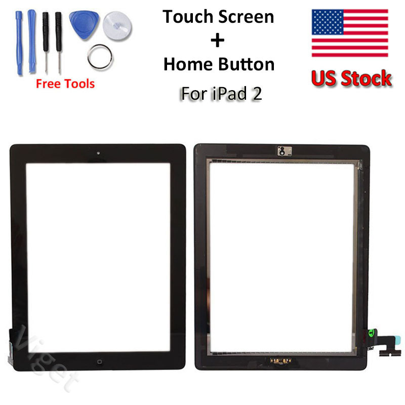 touch screen glass ic chip replacement digitizer home button tools for ipad 2 ebay
