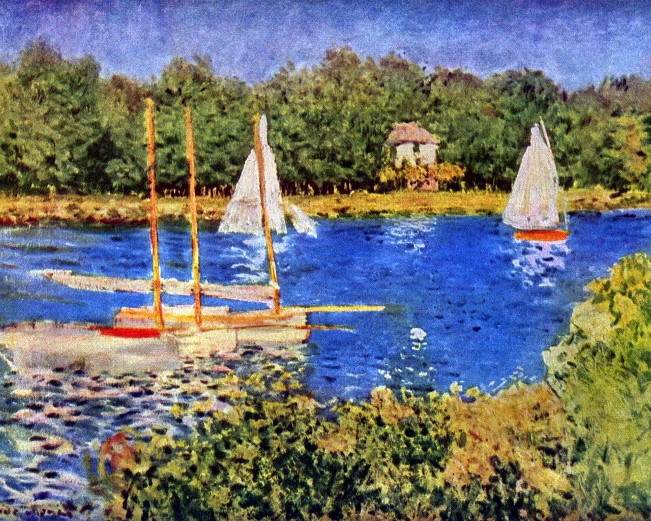 莫奈风景油画作品欣赏
