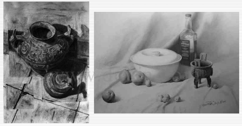 光影几何素描石膏组合步骤图片
