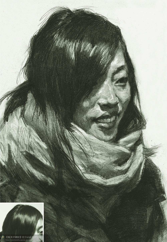 美术高考素描头像优秀作品欣赏
