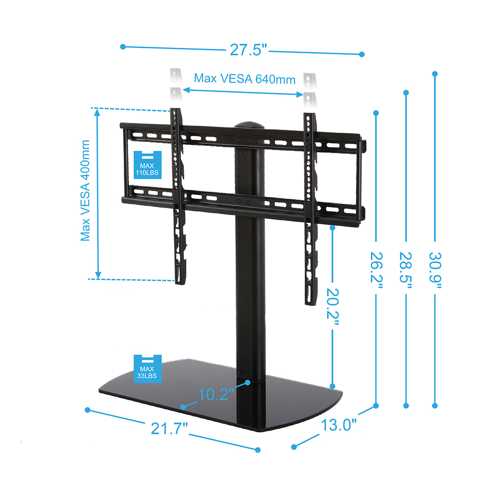 Fitueyes lcd tv stands entertainment center fits 32 40 46 for Table televiseur
