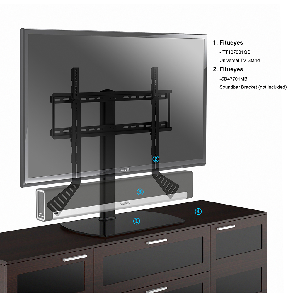fitueyes lcd tv stands entertainment center fits 32 40 46. Black Bedroom Furniture Sets. Home Design Ideas