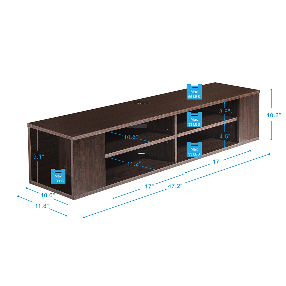 Fitueyes Media Console Floating Tv Entertainment Center