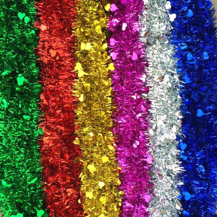 幼儿园学校生日婚礼布置毛条彩条六一节庆圣诞节派对装饰彩带拉花